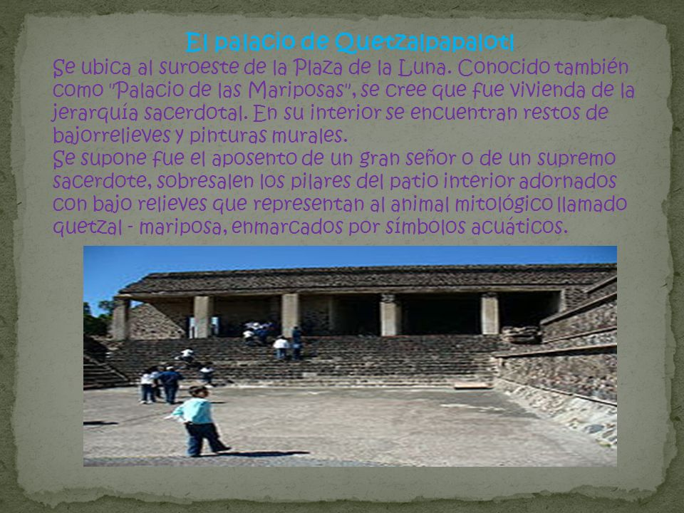 El palacio de Quetzalpapalotl