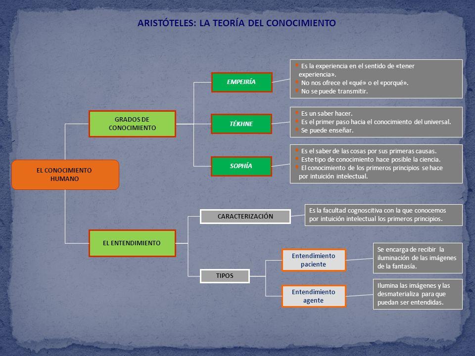 ARISTÓTELES: LA TEORÍA DEL CONOCIMIENTO Entendimiento paciente