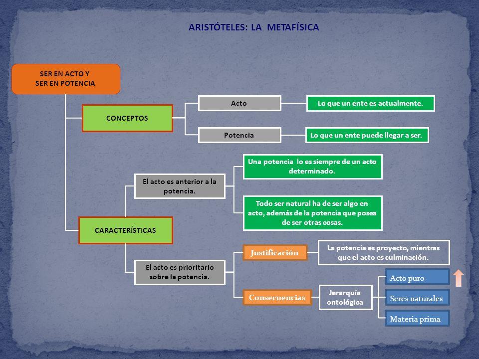 ARISTÓTELES: LA METAFÍSICA