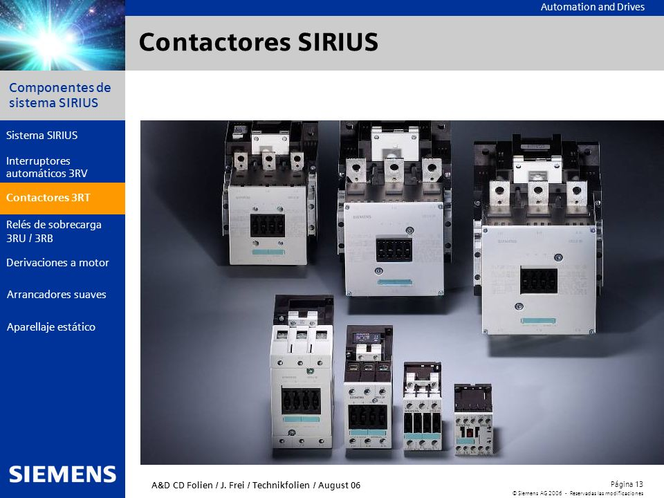 Contactores SIRIUS Contactores 3RT
