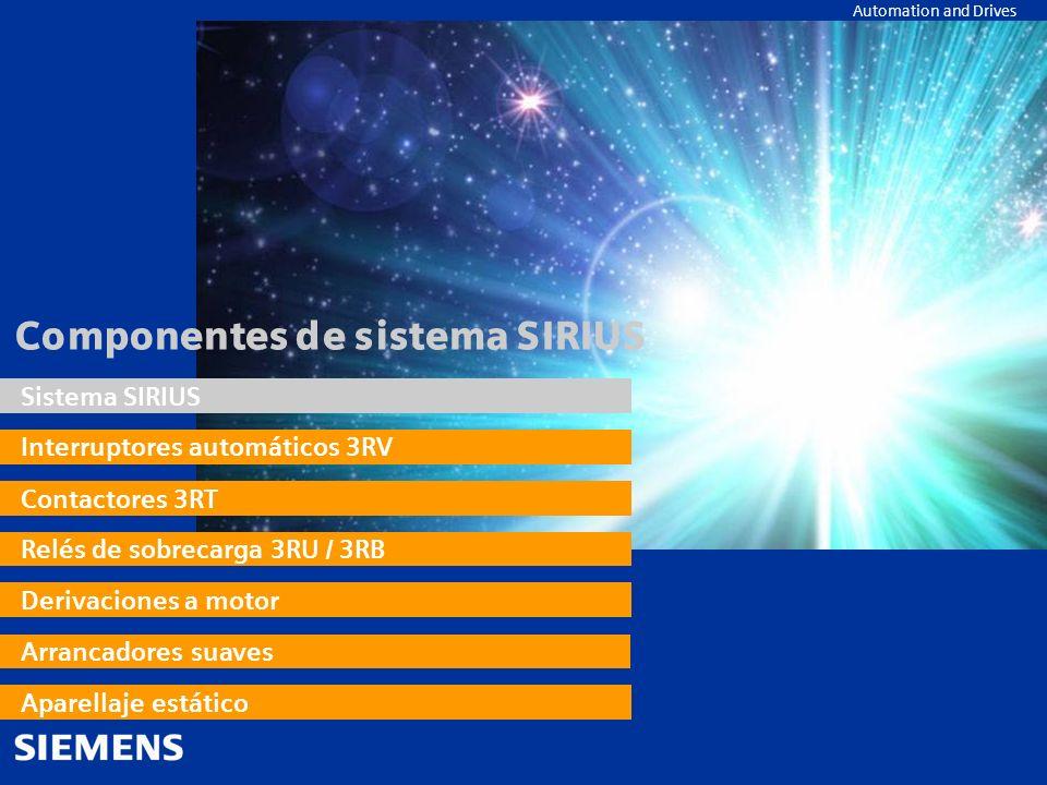 Componentes de sistema SIRIUS
