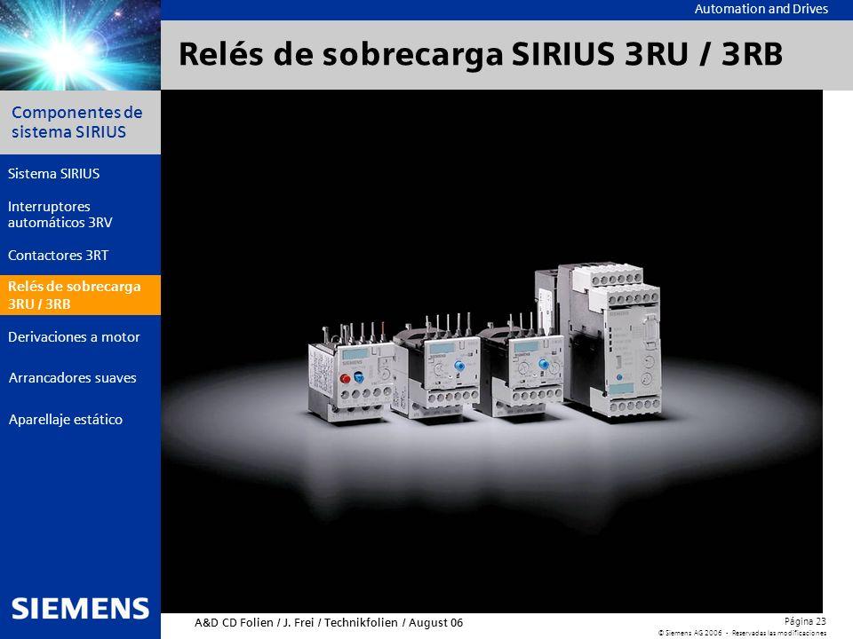 Relés de sobrecarga SIRIUS 3RU / 3RB