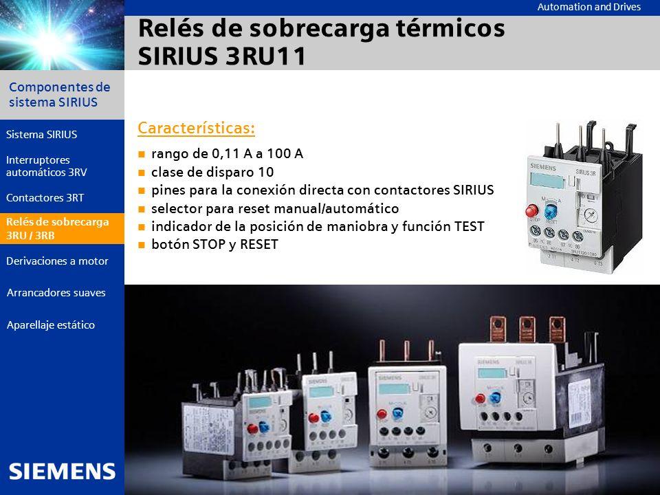 Relés de sobrecarga térmicos SIRIUS 3RU11