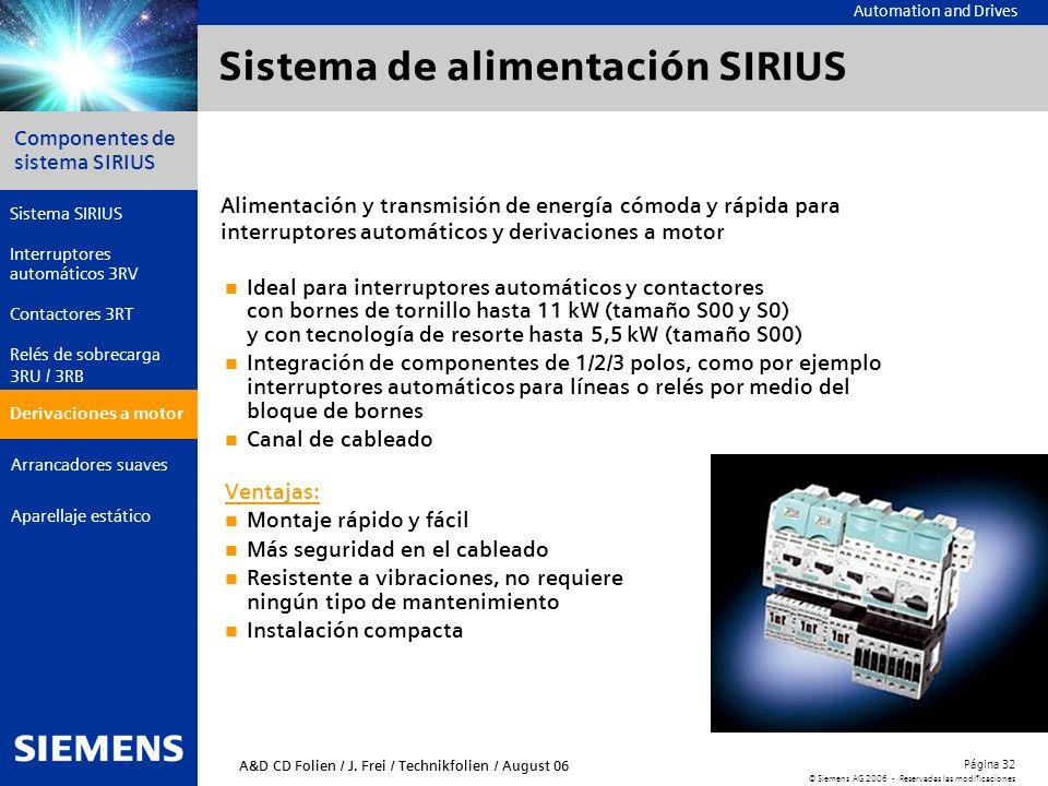 Sistema de alimentación SIRIUS