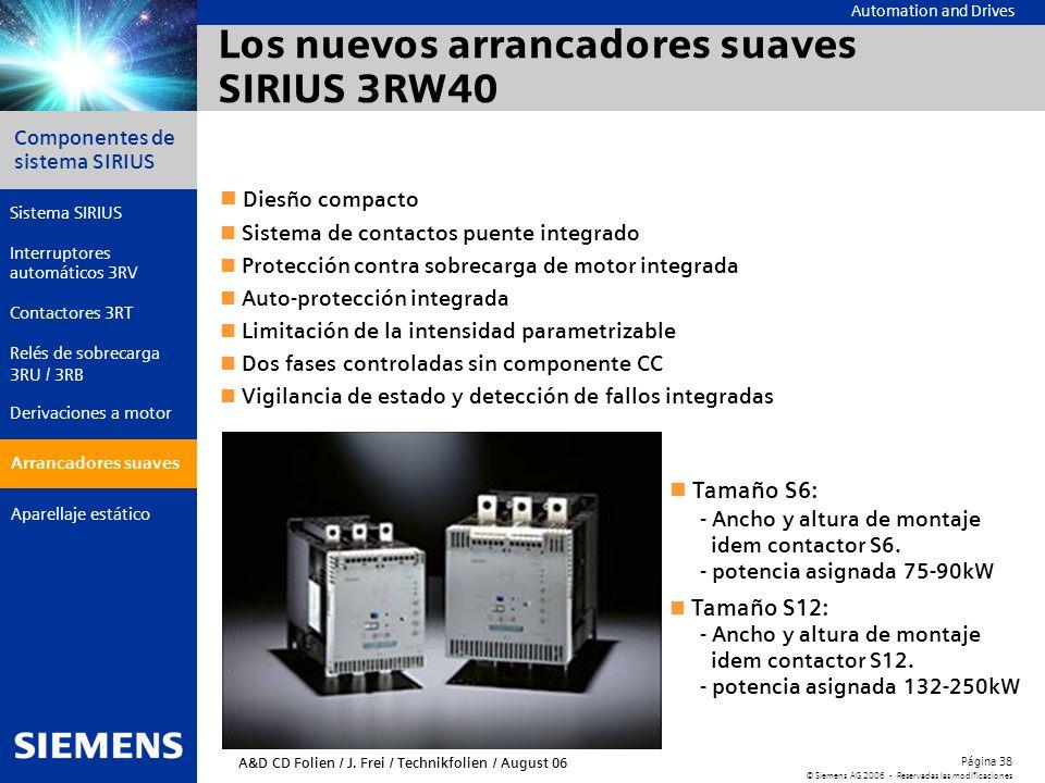 Los nuevos arrancadores suaves SIRIUS 3RW40
