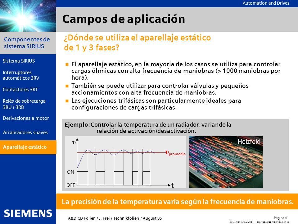 Campos de aplicación ¿Dónde se utiliza el aparellaje estático de 1 y 3 fases