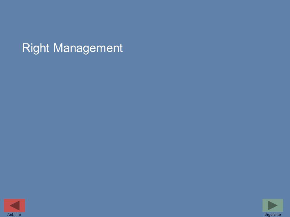 Right Management Anterior Siguiente
