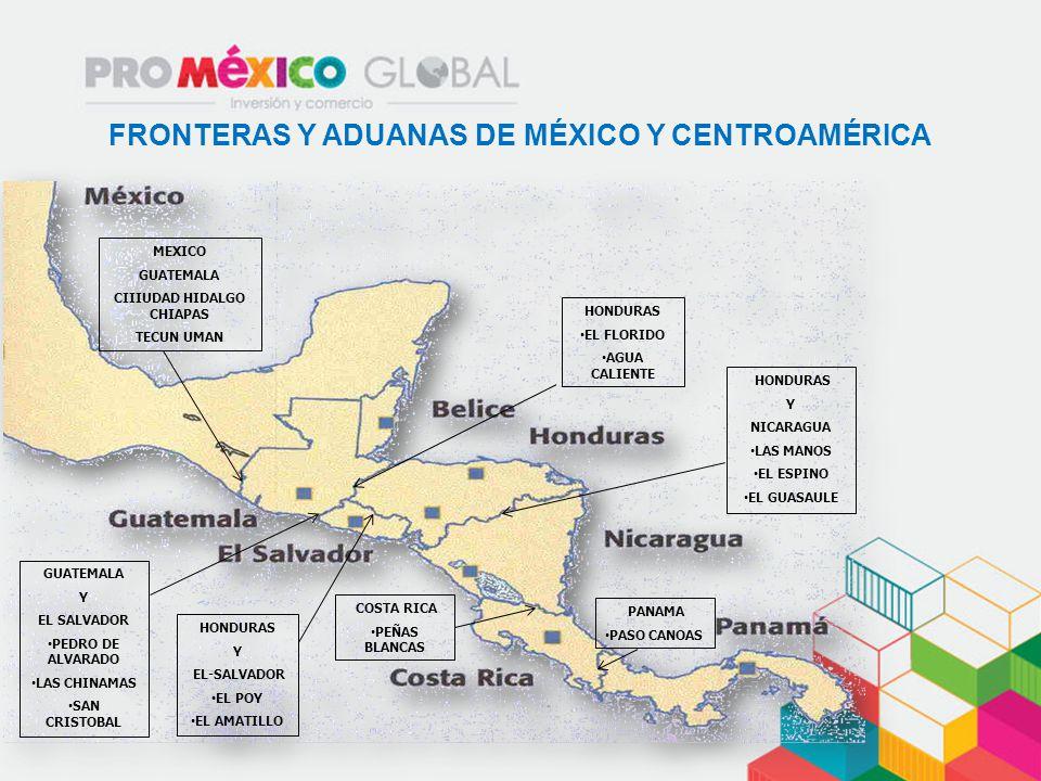 FRONTERAS Y ADUANAS DE MÉXICO Y CENTROAMÉRICA