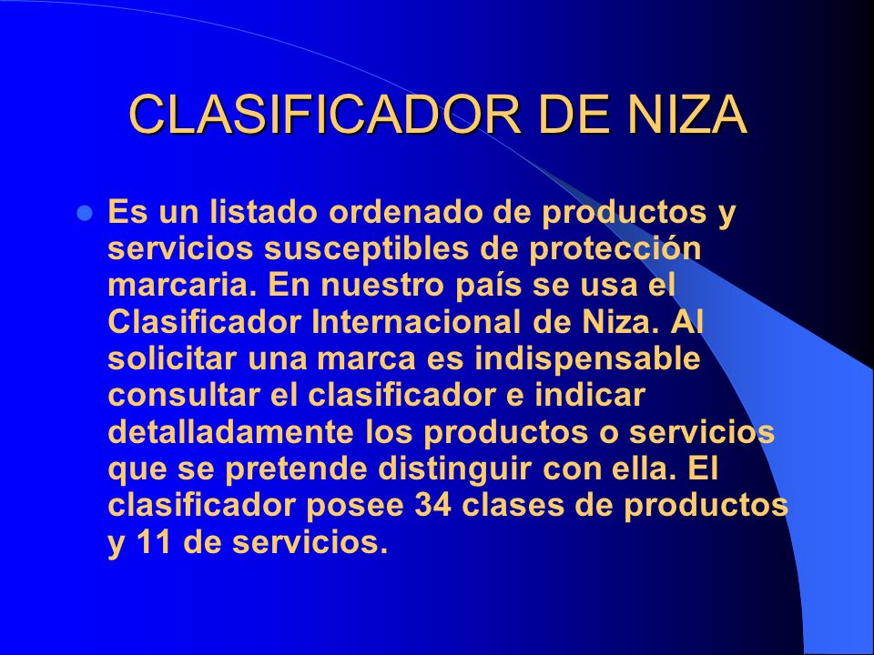 CLASIFICADOR DE NIZA