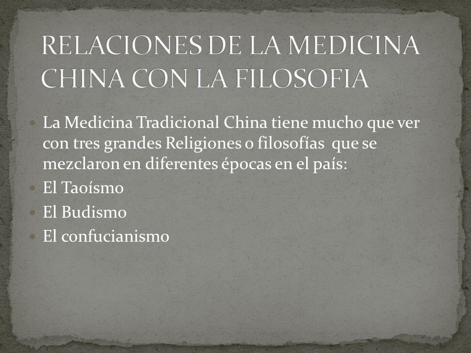 RELACIONES DE LA MEDICINA CHINA CON LA FILOSOFIA