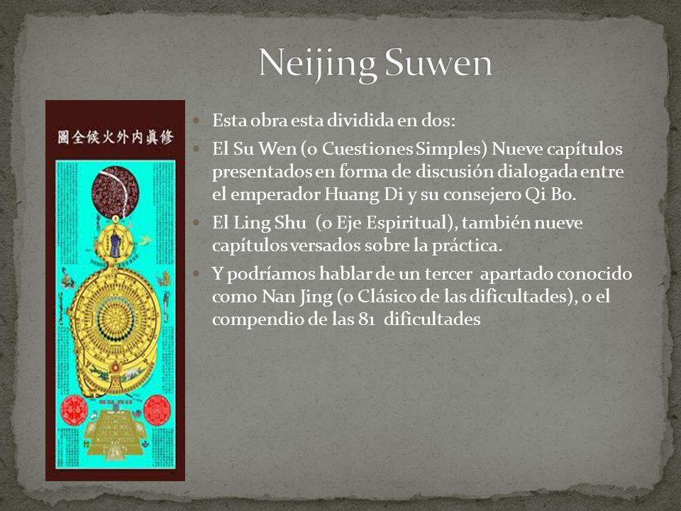 Neijing Suwen Esta obra esta dividida en dos: