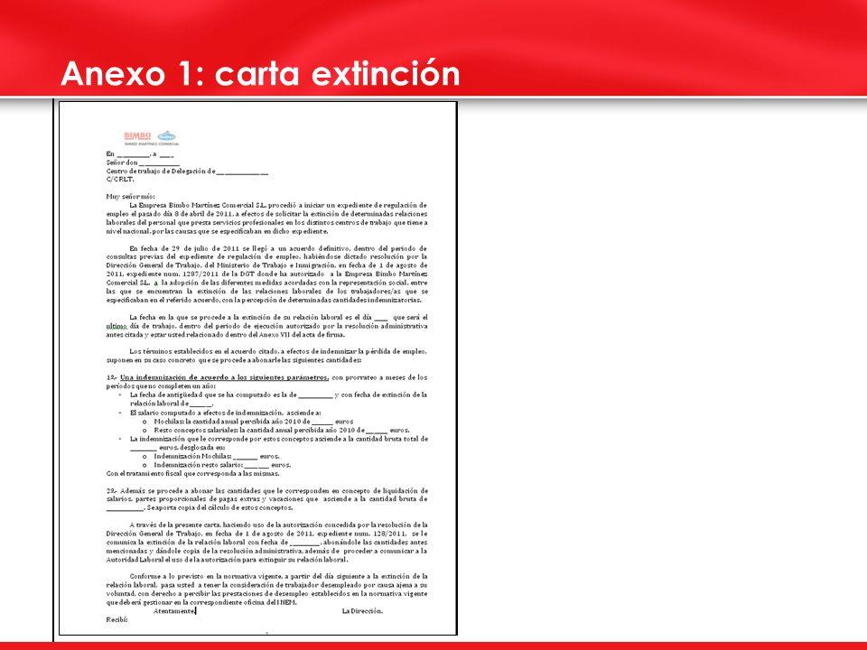 Anexo 1: carta extinción