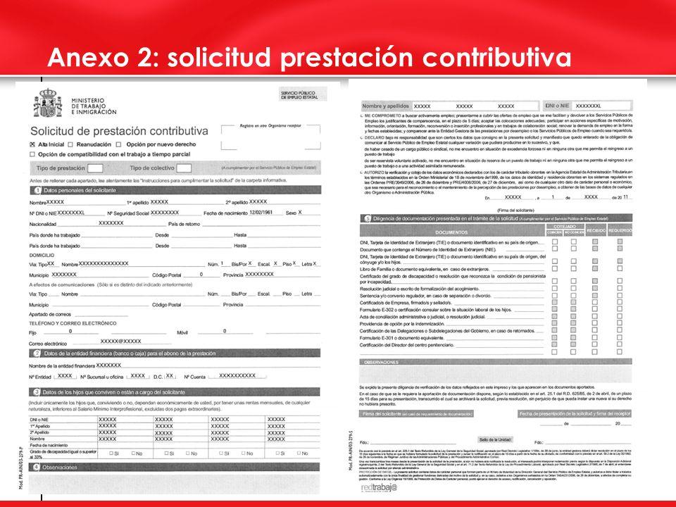 Anexo 2: solicitud prestación contributiva