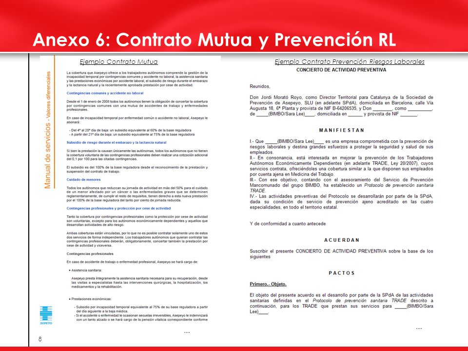 Anexo 6: Contrato Mutua y Prevención RL