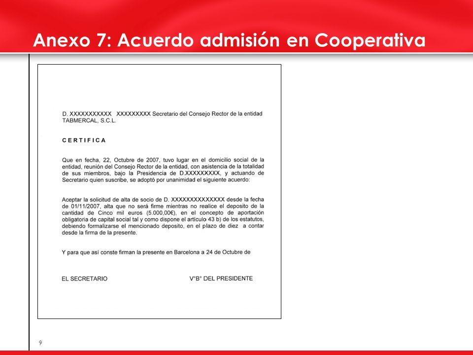Anexo 7: Acuerdo admisión en Cooperativa