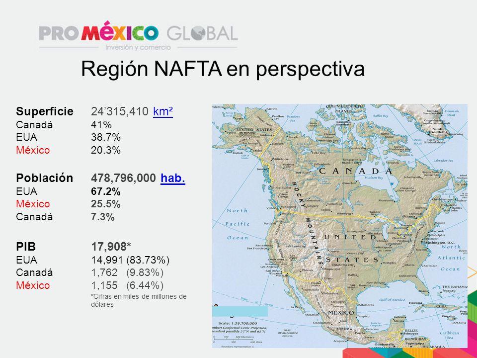 Región NAFTA en perspectiva