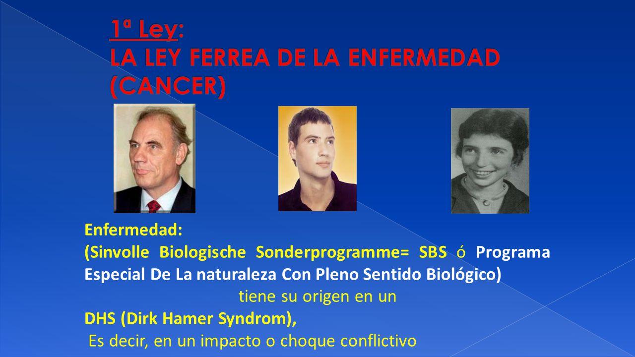 1ª Ley: LA LEY FERREA DE LA ENFERMEDAD (CANCER)
