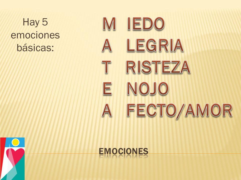 Hay 5 emociones básicas: