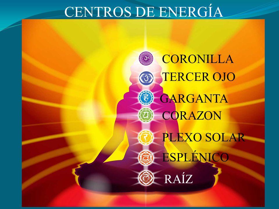 CENTROS DE ENERGÍA CORONILLA TERCER OJO GARGANTA CORAZON PLEXO SOLAR