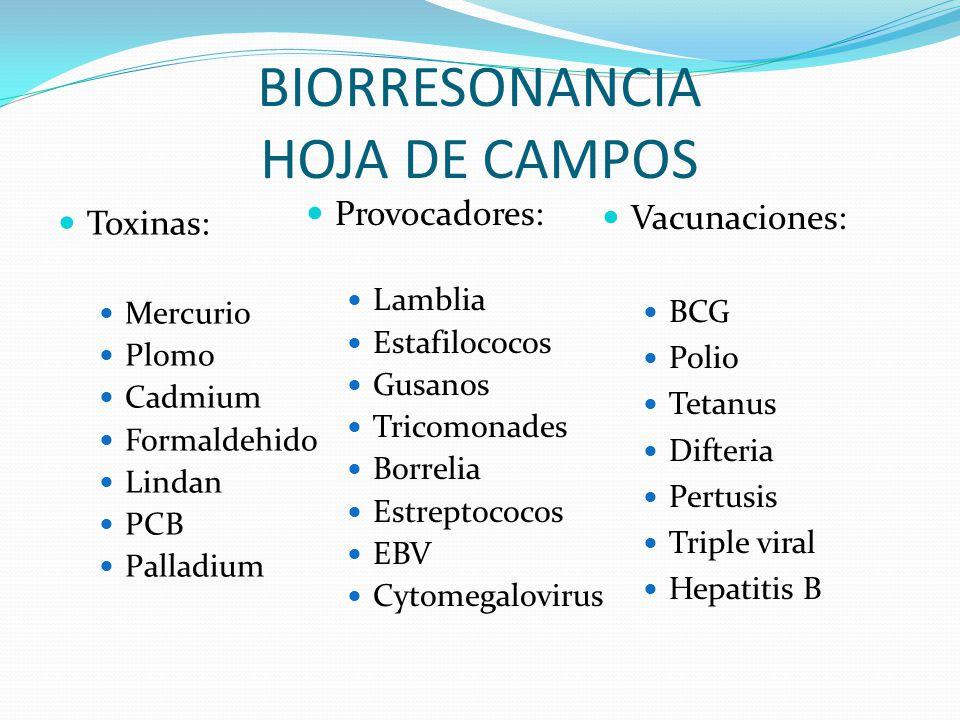 BIORRESONANCIA HOJA DE CAMPOS