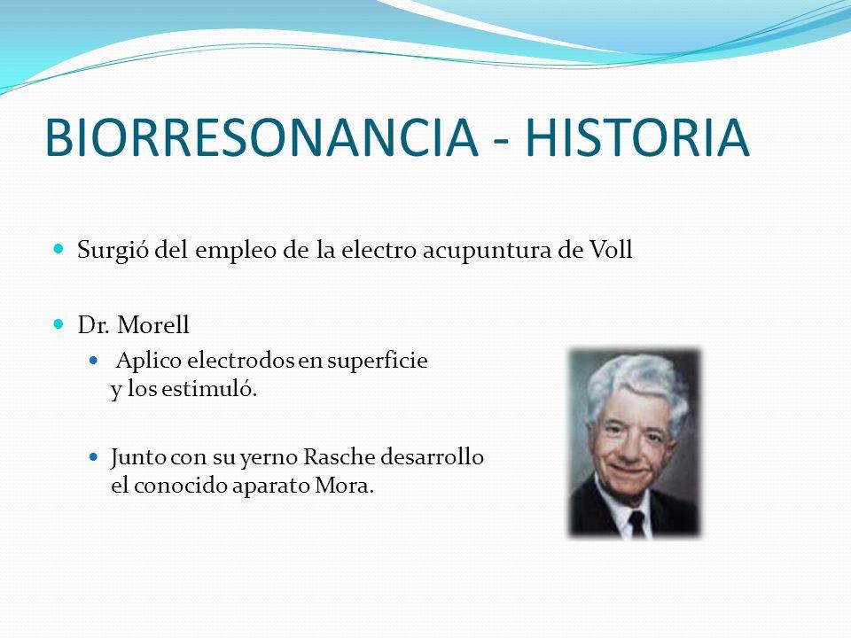 BIORRESONANCIA - HISTORIA