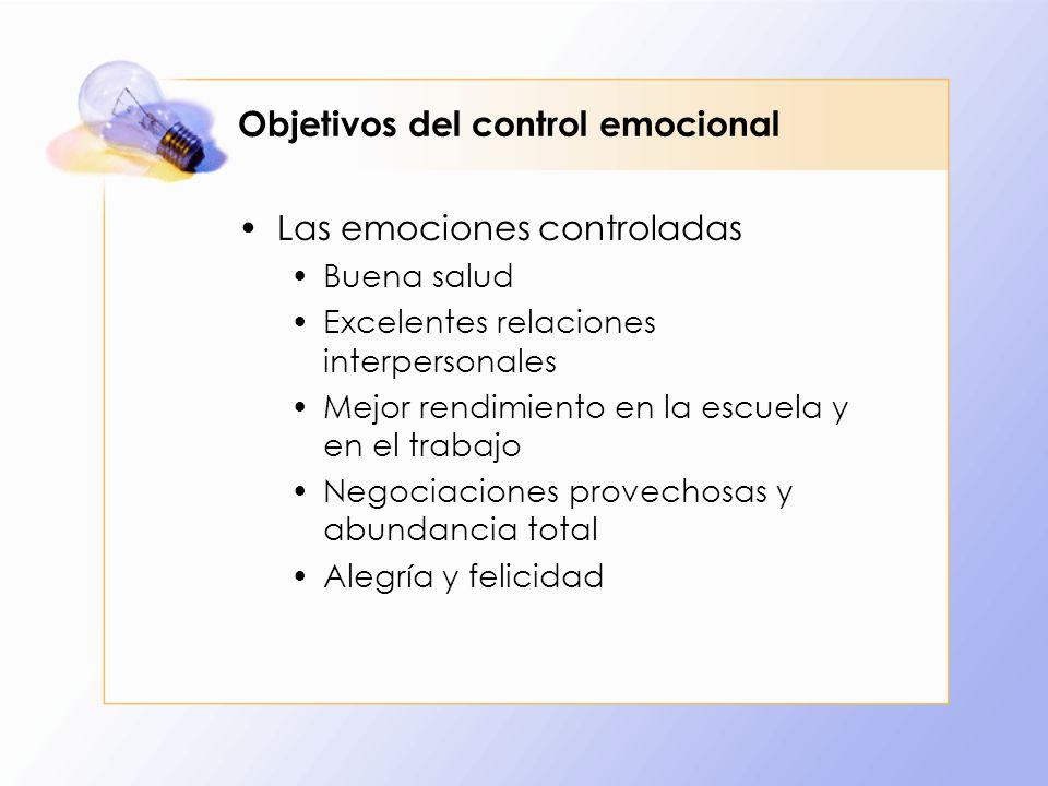 Objetivos del control emocional