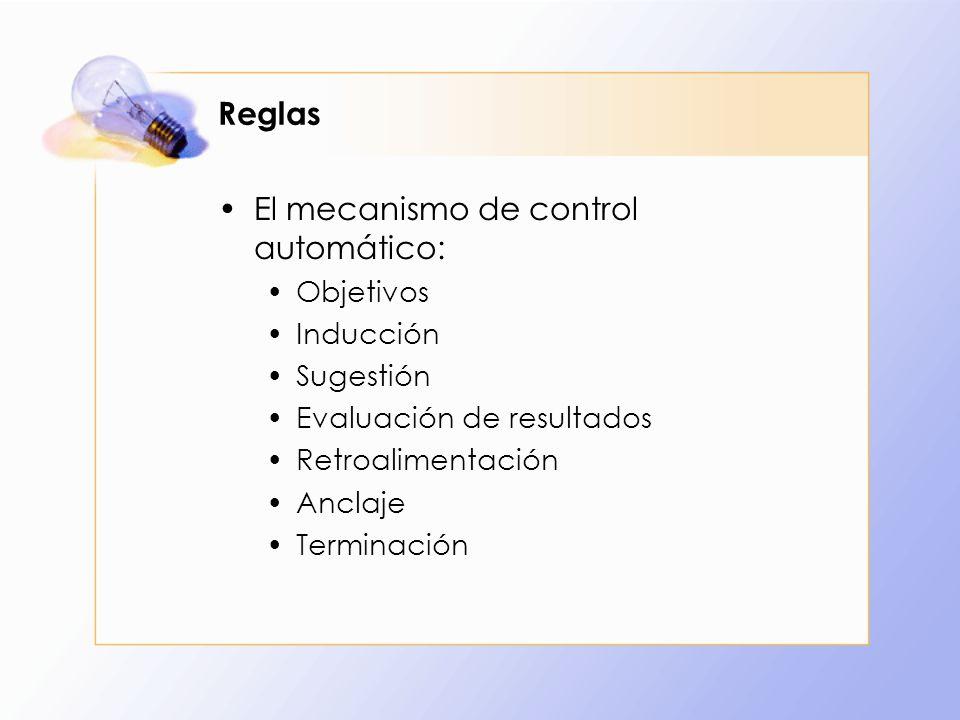 El mecanismo de control automático: