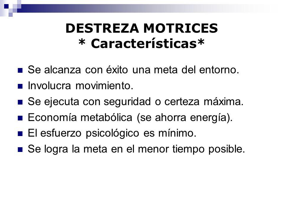 DESTREZA MOTRICES * Características*