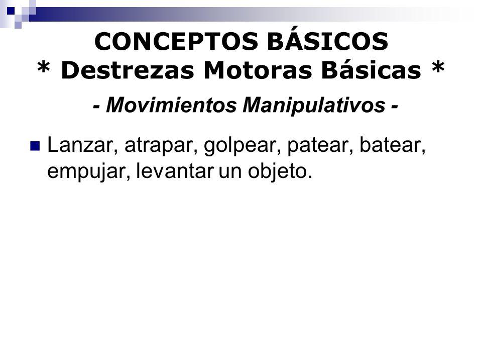 CONCEPTOS BÁSICOS. Destrezas Motoras Básicas