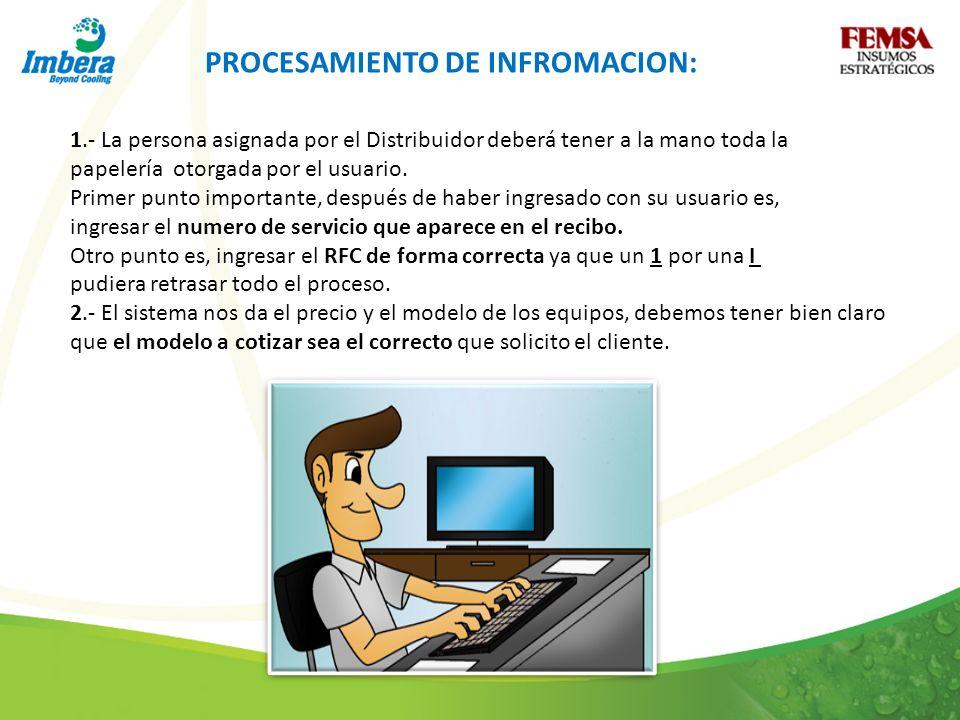 PROCESAMIENTO DE INFROMACION: