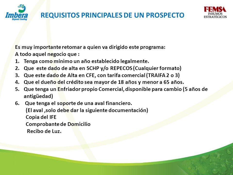REQUISITOS PRINCIPALES DE UN PROSPECTO