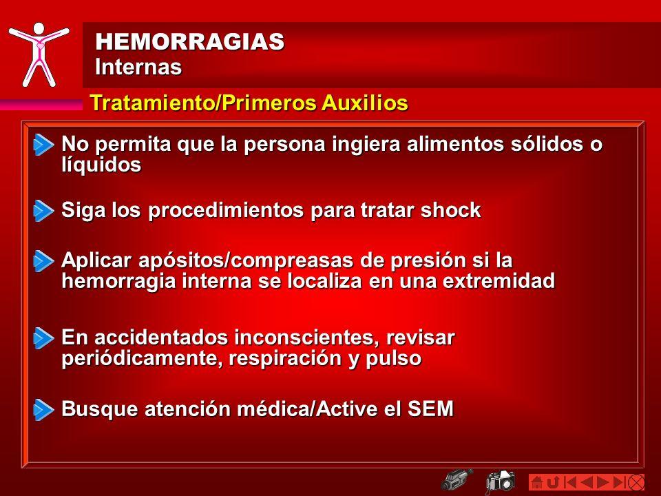 HEMORRAGIAS Internas Tratamiento/Primeros Auxilios