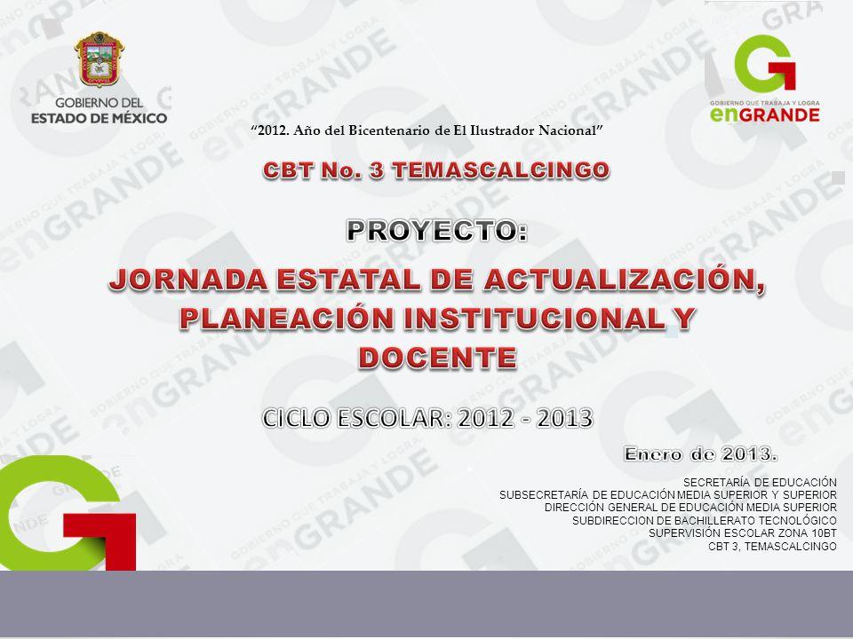 JORNADA ESTATAL DE ACTUALIZACIÓN, PLANEACIÓN INSTITUCIONAL Y DOCENTE