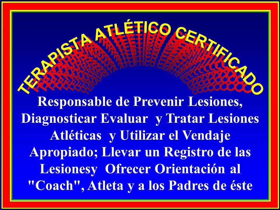 Responsable de Prevenir Lesiones,
