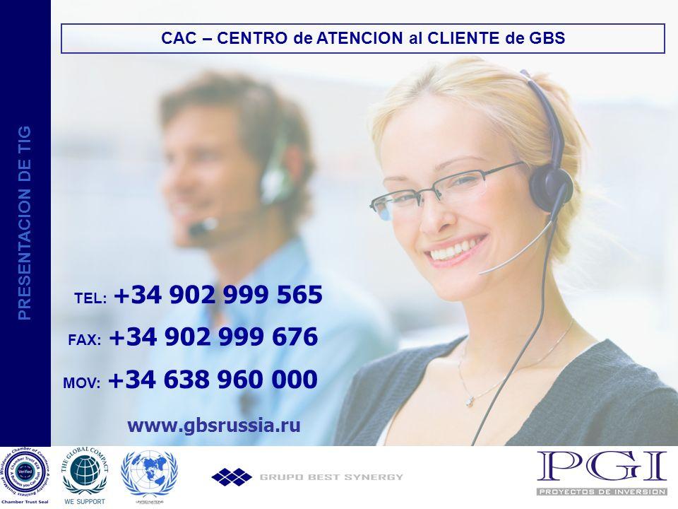 CAC – CENTRO de ATENCION al CLIENTE de GBS