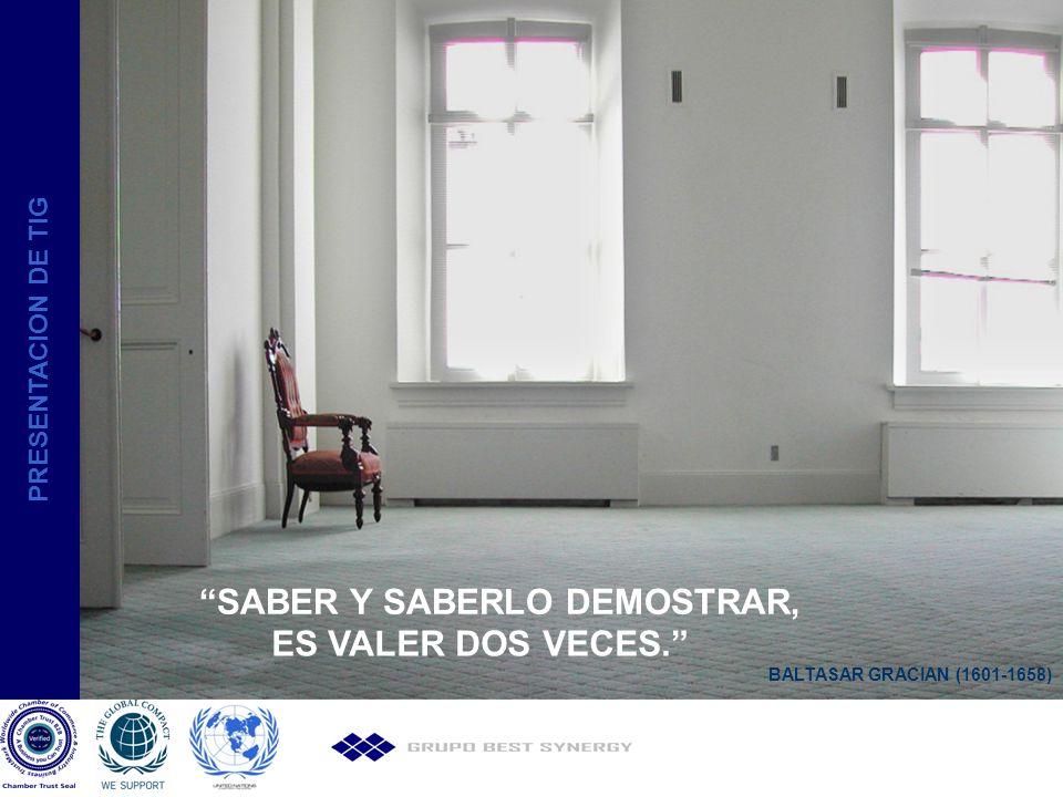 SABER Y SABERLO DEMOSTRAR, ES VALER DOS VECES.