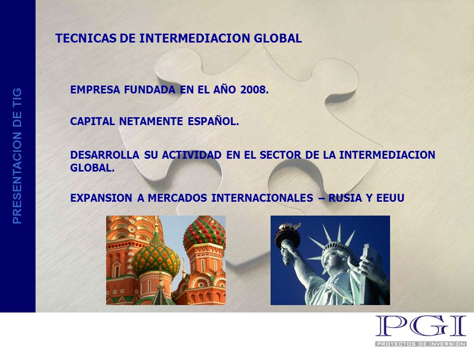 TECNICAS DE INTERMEDIACION GLOBAL