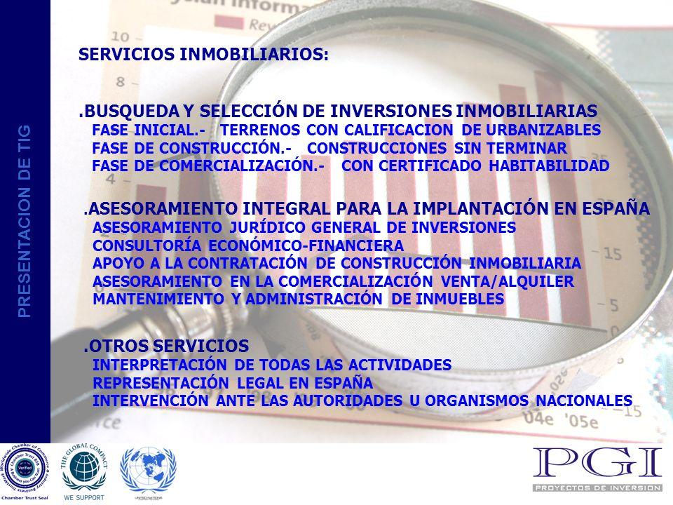 SERVICIOS INMOBILIARIOS: