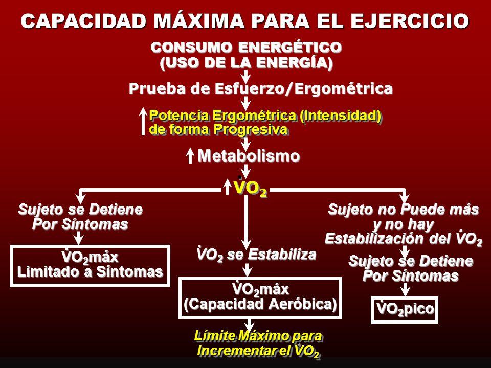 CAPACIDAD MÁXIMA PARA EL EJERCICIO Prueba de Esfuerzo/Ergométrica
