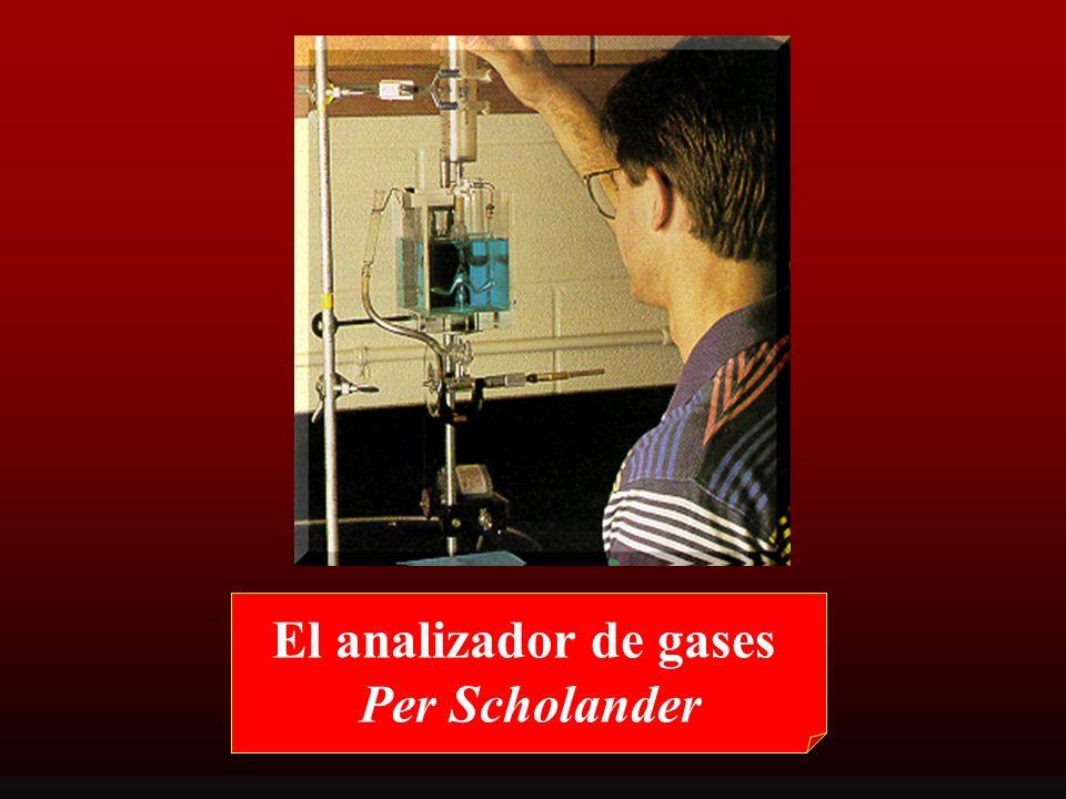 El analizador de gases Per Scholander