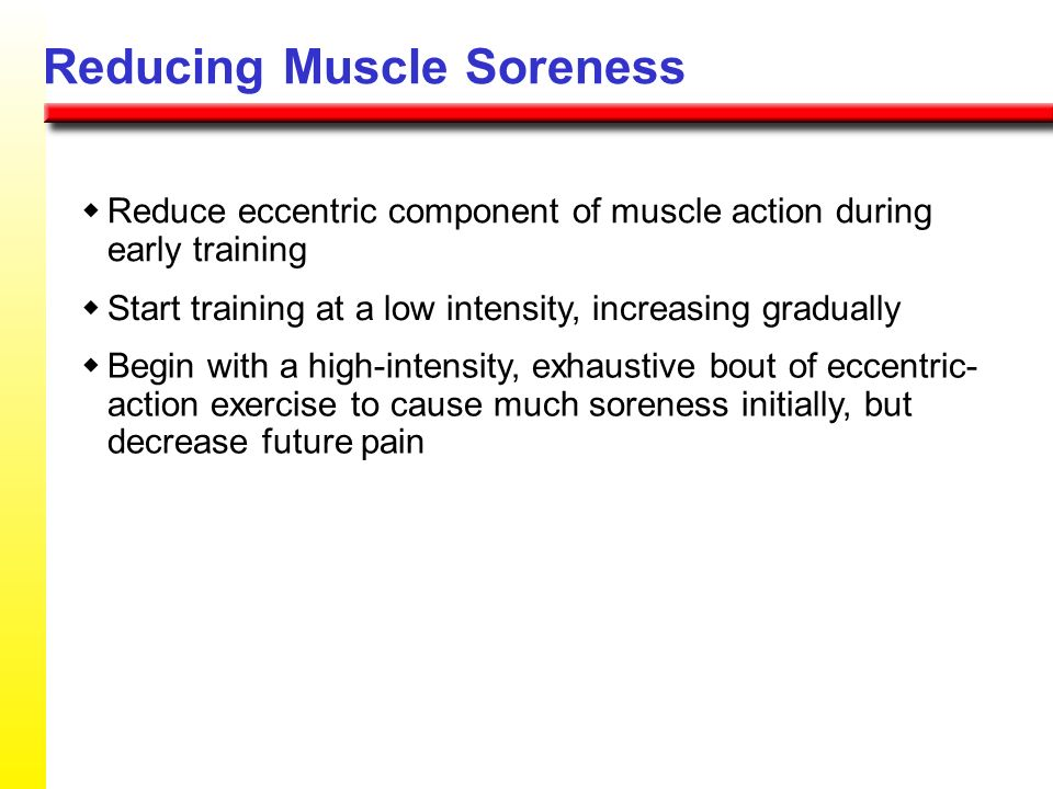 Reducing Muscle Soreness