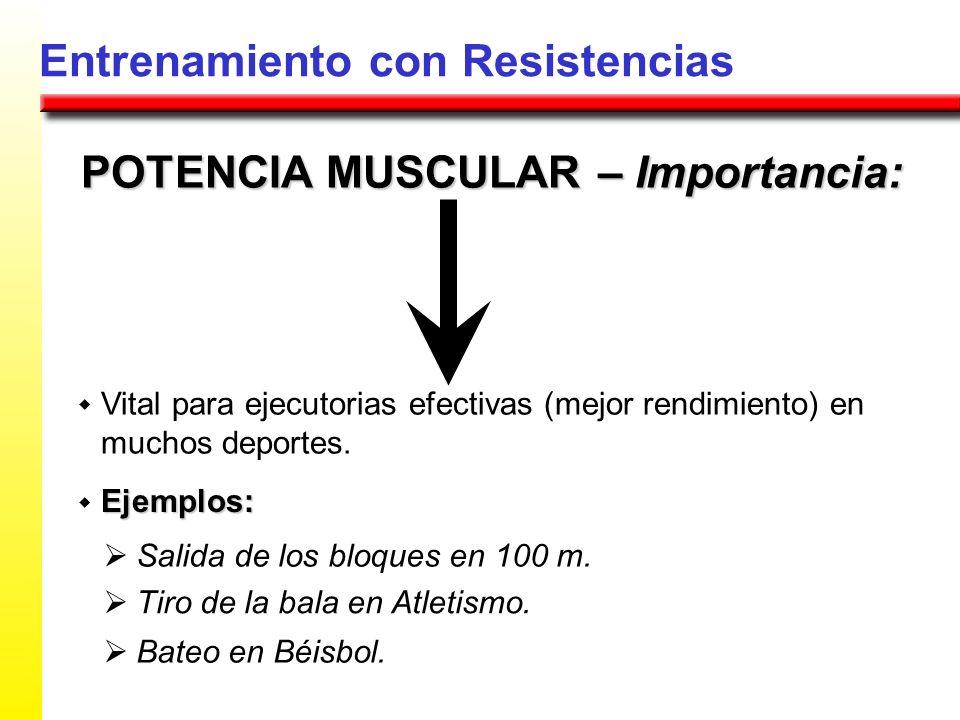POTENCIA MUSCULAR – Importancia: