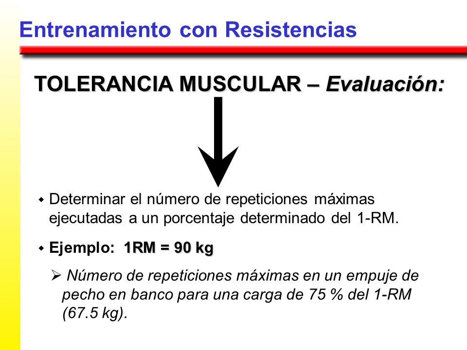 TOLERANCIA MUSCULAR – Evaluación: