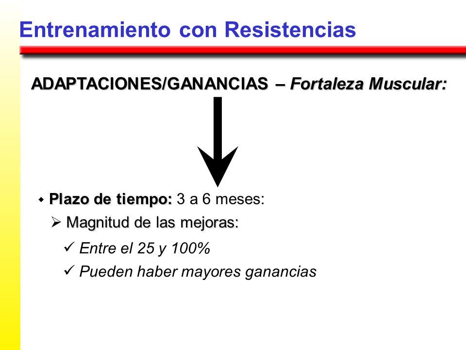 ADAPTACIONES/GANANCIAS – Fortaleza Muscular: