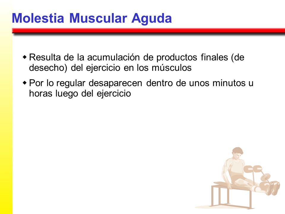 Molestia Muscular Aguda