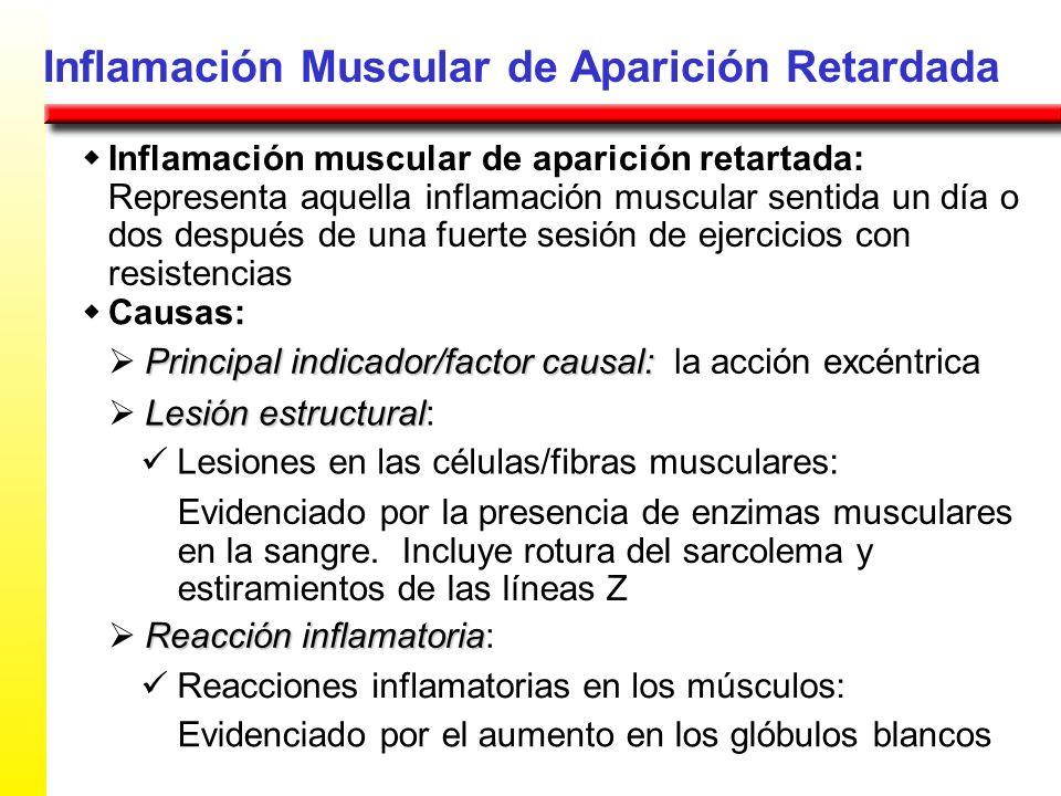 Inflamación Muscular de Aparición Retardada