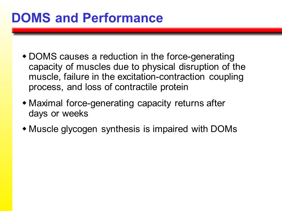 DOMS and Performance