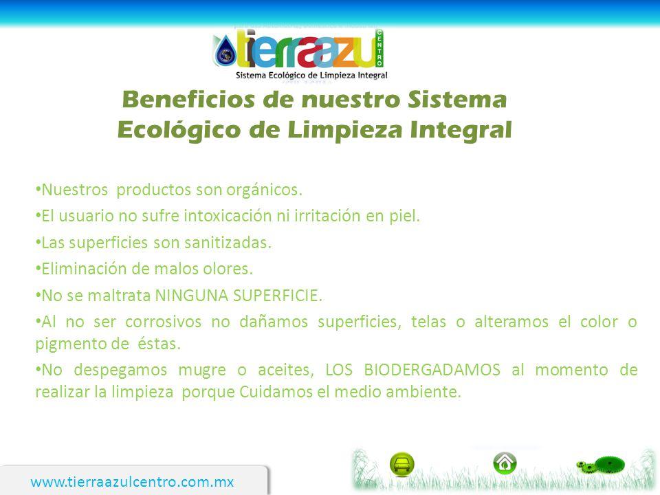 Beneficios de nuestro Sistema Ecológico de Limpieza Integral