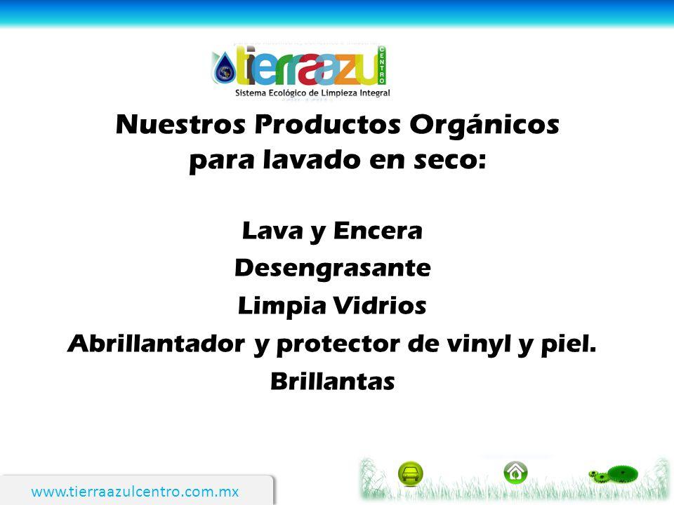Nuestros Productos Orgánicos para lavado en seco: