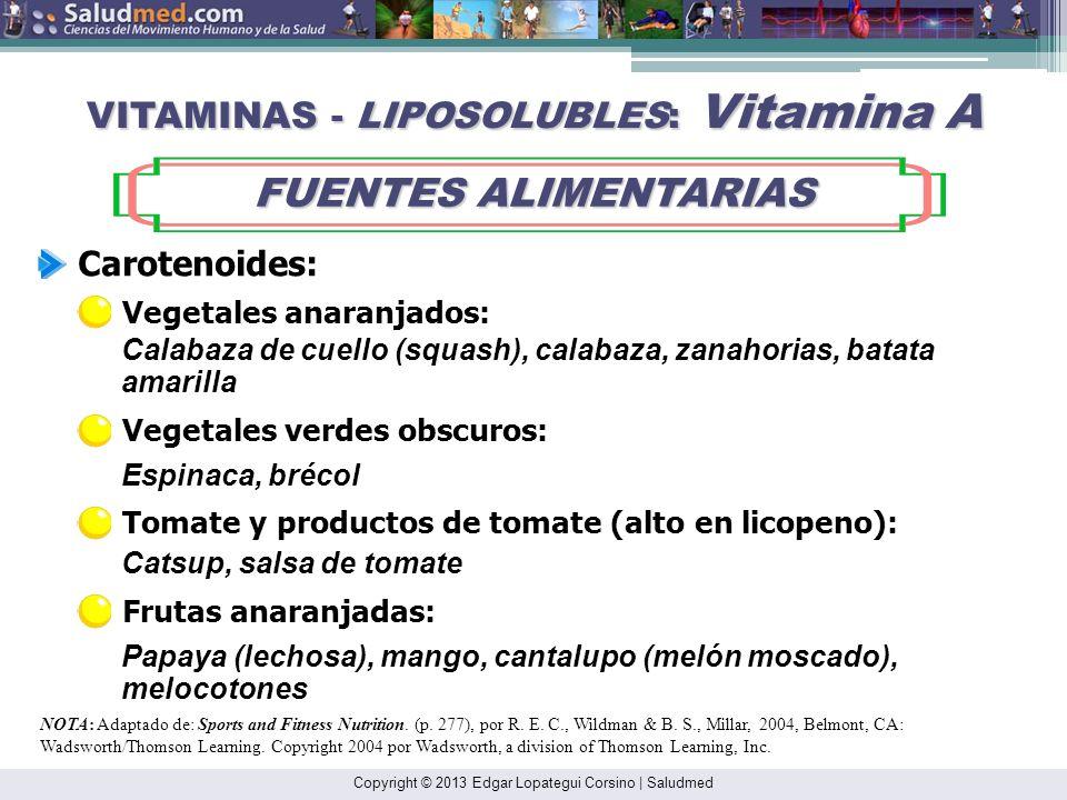 VITAMINAS - LIPOSOLUBLES: Vitamina A